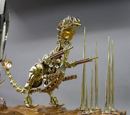 Dino War Machine Sculpture