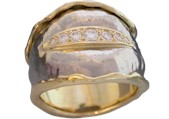 Repousse Diamond Ring designed by Hans Meevis
